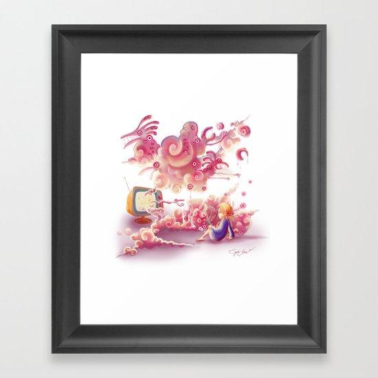 A strange television… Framed Art Print