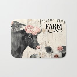 Pink Nose Farm I Bath Mat