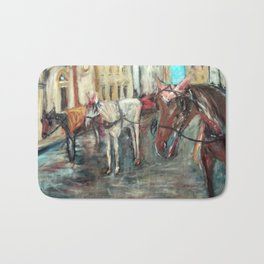 Horses in Florence Bath Mat