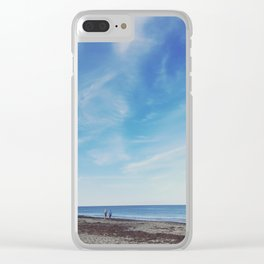Beach Walkers Clear iPhone Case