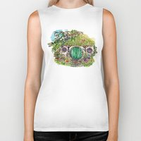hobbit Biker Tanks featuring Hobbit hole by Kris-Tea Books