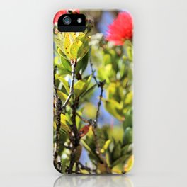 Ohi'a Lehua and her bee iPhone Case