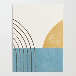 Sunny Ocean Horizon Poster