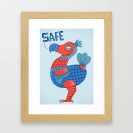 Safe Dodo Framed Art Print