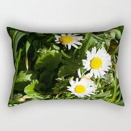 Spring Daisy Photography Print Rectangular Pillow