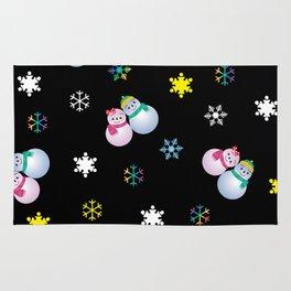 Snowflakes & Pair Snowman_E Rug