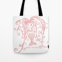 whatever Tote Bags featuring Whatever. by I'm Knot Tangled