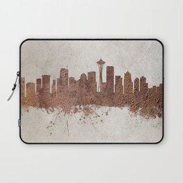 Seattle Washington Rust Skyline Laptop Sleeve