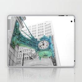 The Blue Chicago Clock Laptop & iPad Skin