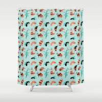 bugs Shower Curtains featuring Bugs by JenHoney