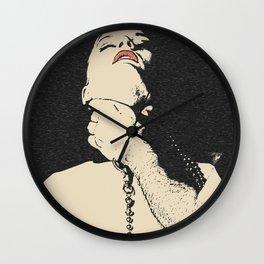 Choke me, use me, abuse me, my Master - hard slave fetish erotic, kinky red lips girl choked, breath Wall Clock
