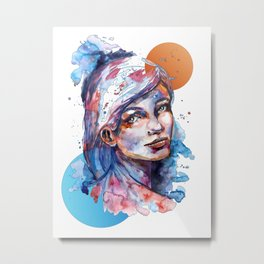 Sophia by carographic Metal Print