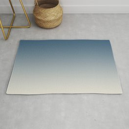 Blue & Linen White Gradient Ombre Blend Pairs To 2020 Color of the Year Chinese Porcelain PPG1160-6 Rug