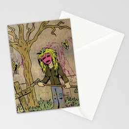 Little Grave Digger Girl Stationery Cards
