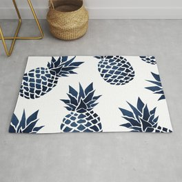 Pineapple Blue Denim Rug