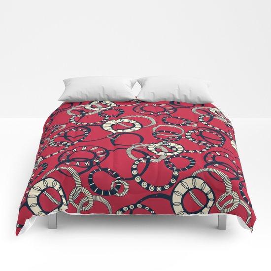 Honolulu hoopla red Comforters