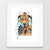 polka Framed Art Prints featuring Polka by Barnsey