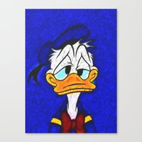 donald duck Canvas Prints featuring Donald Duck by DisPrints