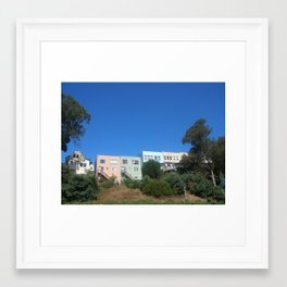 Houses on a Hill Framed Art Print