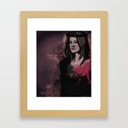 The rest of her was smoke Framed Art Print