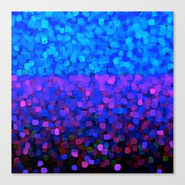 Sparkles Glitter Blue Canvas Print