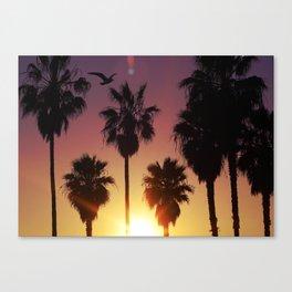 Venice Purple Sky Canvas Print
