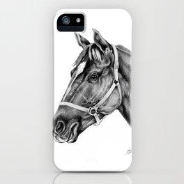 Affirmed (US) Thoroughbred Stallion iPhone Case