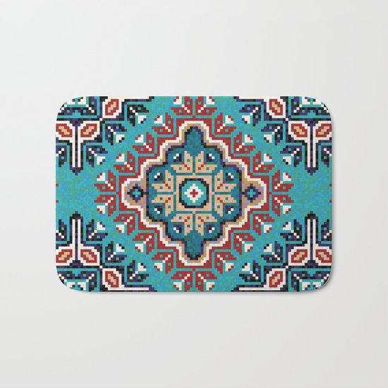 Native American Navajo pattern II Bath Mat by CatyArte : Society6