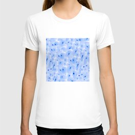 abstract blue cellular T-shirt