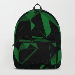 3D Futuristic Geometric Background (Green) Backpack