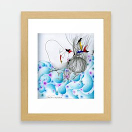 Temporary everything. Permanent anything. Framed Art Print