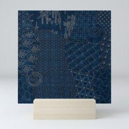 Sashiko - random sampler Mini Art Print