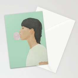 Blowing Bubble Gum Stationery Cards