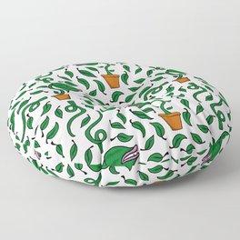 man eating plant Floor Pillow