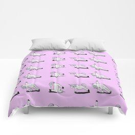 Unicorn Yoga Pattern Rose Comforters