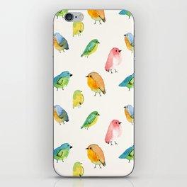 Watercolor Birds Pattern iPhone Skin