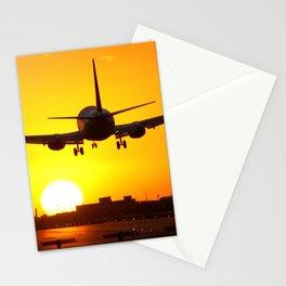 Beautiful 737 Sunset Stationery Cards
