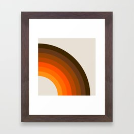 Retro Golden Rainbow - Right Side Framed Art Print