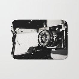 camera love b/w Bath Mat