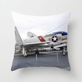 1960 McDonnell F-4N Phantom II Throw Pillow