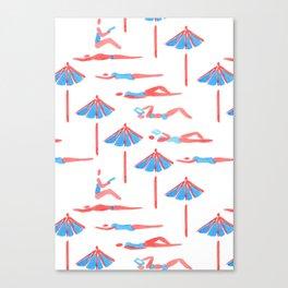 sunbathing pattern Canvas Print