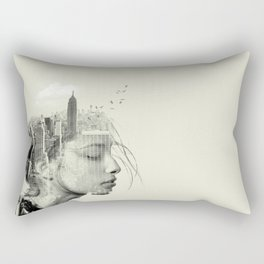 Reflection, New York City Rectangular Pillow