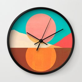 Abstraction_SUN_MOON_REFLECTION_DAY_NIGHT_POP_ART_M2007A Wall Clock