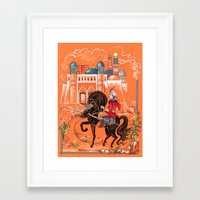 arab Framed Art Prints featuring Arab Prince by Elina_Ch