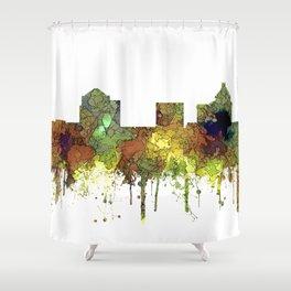 Greensboro NC Skyline SG - Safari Buff Shower Curtain