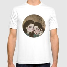 Twin Princesses White Mens Fitted Tee MEDIUM