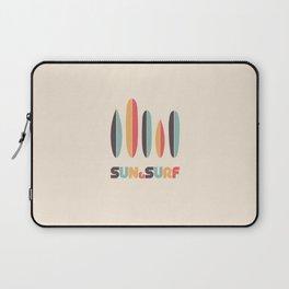 Retro Sun & Surf Surfboard Laptop Sleeve