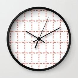Christian Cross 54– with hearts Wall Clock