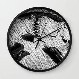 Black and white corkscrew Wall Clock