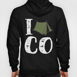 Native Colorado Gifts CO Tent Pride Mountains I Camp Olive Hoody